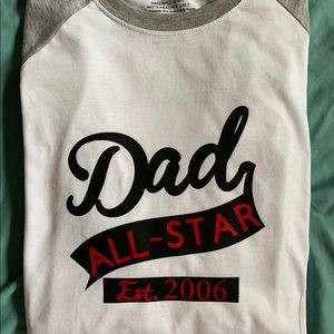 All Star Dad Graphic Shirt Various Sizes